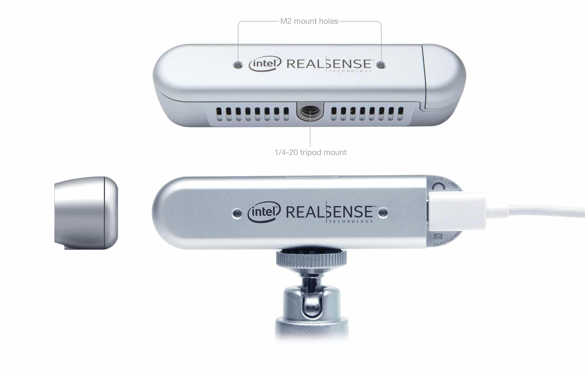 orthographic vies photo of the intel realsense universal mounting system